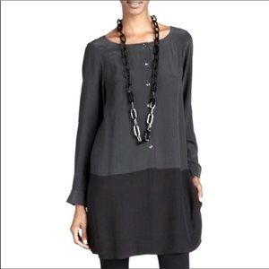 Eileen Fisher Color Block Tunic Size S 100% Silk